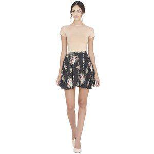 Alice + Olivia Blaise Trapeze floral skater Skirt